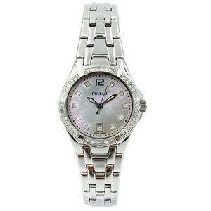 Pulsar Swarovski Crystal Date Ladies Watch